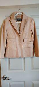 Terry Lewis Luxury Leather Blazer Jacket Size Small