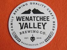 Beer Brewery Coaster ~ WENATCHEE VALLEY Brewing Co ~ WASHINGTON State Since 2015