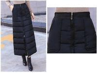 Damen Winter Warm Reißverschluss S-5XL Modern Daunenrock Outwear Gefüttert Neu