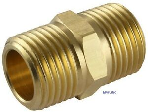 "1"" Brass Hex Pipe Nipple NPT Threaded Connector Adapter <122A-F"