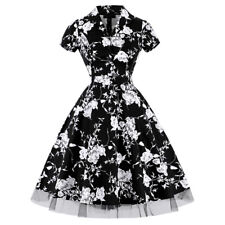 Womens Vintage 1950s 60s Rockabilly Retro Pinup Swing Prom Party Housewife Dress