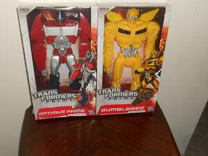"Rare Transformers 2 Pack Optimus Prime & Bumblebee 11"" Figures Hasbro Unopened"