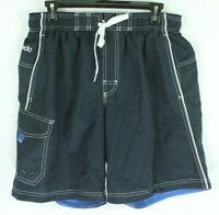 Shorts Speedo Board Swim Trunks Mens Size M Blue Lined Mesh Men's 1Q