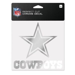 "DALLAS COWBOYS DIE-CUT CHROME DECAL 6""X6"" PERFECT FOR WINDOWS HIGH QUALITY"