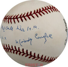 Woody English Signed NL Baseball Insc. Babe Ruth did call his HR in 1932 WS PSA