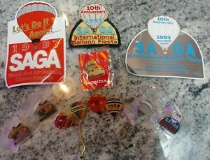 90's Hot Air Ballooning Souviner Pins, Patch, & Stickers SAGA Japan