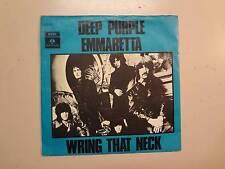 "DEEP PURPLE: Emmaretta-Wring That Neck-Denmark 7"" 1969 Parlophone EMI R 5763 PSL"