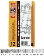 Koh-I-Noor 1502/1 Technic Hard Graphic Drawing Pencils Tin HB-10H (Set of 12)