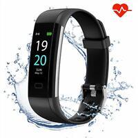 Bluetooth Smart Watch Heart Rate Fitness Tracker Bracelet Pedometer Fit UK New✅✅