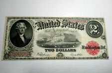 1917 USA $2 DOLLARS UNITED STATES RED SEAL VF/VF+ VERY NICE BANKNOTE CIRCULATED