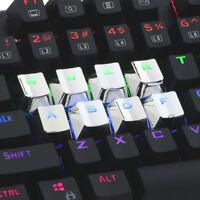 12 Keys PBT Backlit Translucent Metallic Electroplated Keycaps For Cherry MX Ke