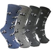 Calcetines Mujer Motivo Oso Panda Animal Algodón Azul Gris Invierno Fereti Largo