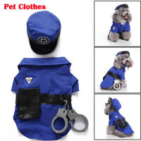 Pet Halloween Clothes Funny Police Uniform Costume Coats for Small Dog Cat Party