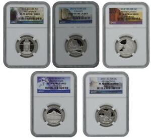 2010-S Proof Silver Quarter 5 Coins Set National Parks NGC PF70 Ultra Cameo