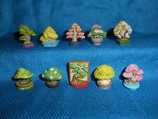 Miniature BONSAI TREES Penjing Set 10 Mini Figurines FRENCH Tiny Porcelain FEVES