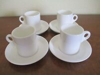 WEDGWOOD - England, Metallised Bone China Demitasse Cup with Saucer, Four Sets