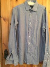 Camisa De Hombre Ralph Lauren Polo 16 1/2 cuello cuadros azules y blancos Philip 100% dos P
