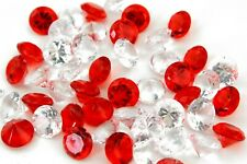 Red and Clear Acrylic Faux Diamond Crystal Wedding Party Decoration Vase Filler