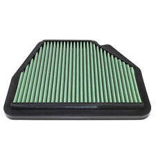 Fit 07-15 Chevy Captiva/Opel Antara Green Washable High Flow Air Filter Panel