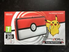 Nintendo 2DS XL Pokeball Edition U.K. Pal Console Brand new  and Unopened.