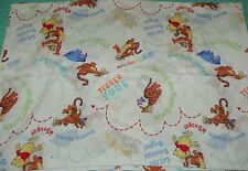 Vtg Winnie the Pooh Tigger Piglet Twin Fitted Flat Sheet Set Disney Made in Usa