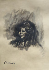 Rare & Unique original ink, painting, signed Pierre Auguste Renoir, w COA, docs.