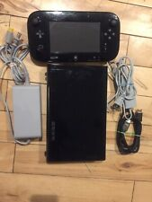 Nintendo Wii U Console 32gb - Black Tested And Factory Reset