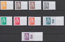 France 2018 Marianne l'Engagée Salon d'Automne série 9 timbres non dentelé BDF