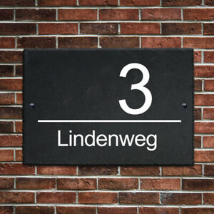 House Number Plaque Door Number Signs Natural Slate Door Sign For Gate Door Home