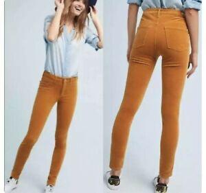 Anthropologie Pilcro And The Letterpress Velvet Pants Size 30 Mustard Yellow