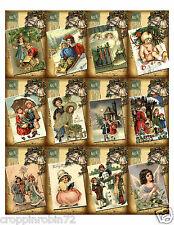 SET OF 12 CHRISTMAS POSTCARDS (02) SCRAPBOOK CARD EMBELLISHMENTS HANG/GIFT TAG