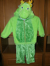 Dragon Costume, sz 1-2, BOY OR GIRL Dress-Up, Halloween, Soft Green Plush Lined!