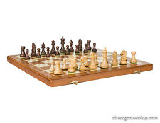 Standard wooden folding tournament chess set  New York - weighted, felted pieces
