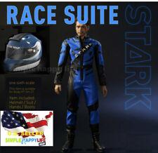 "1/6 DJ-012 Iron Man Tony Helmet Racing suit set for Hot toys 12"" figure ❶USA❶"