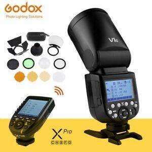 Godox V1 TTL Round Head Flash Light For Canon Sony Fujifilm Nikon + Xpro Trigger