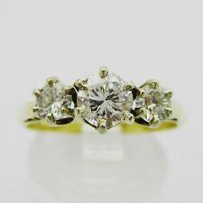 Beautiful 18ct Gold & Diamond Trilogy Ring. Size O.   0.65 Carats.