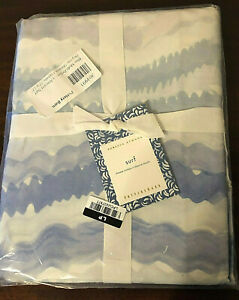 NEW Pottery Barn REBBECA ATWOOD SURF Organic Cotton Shower Curtain  Blue