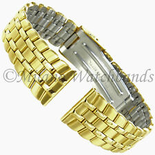 16mm Morellato Stainless Steel Gold Tone Deployment Clasp Straight End Watchband