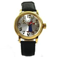 Disney Goofy Clock Automatic Rose Gold Silver Ladies Watch Leather Strap