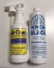 Novacan Black Patina for Lead 16oz & Kwik-Clean Flux Cleaner - 16oz