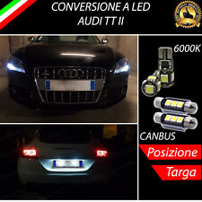 LUCI POSIZIONE A LED + LUCI TARGA A LED CANBUS AUDI TT MK2 8J NO ERROR