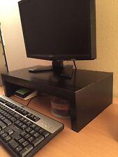 "TV LCD LED Computer Monitor Laptop Table Riser Shelf  21"" Wide Black Finish"