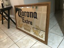 """Large Corona Extra Beer Glass Mirror Framed Sign 51.5"""" X 33.5"""" - Miami Fl Pickup"""
