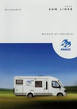 Knaus Reisemobil Sun Liner Prospekt 2003 Wohnmobile Motorcaravan Motorhome