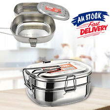 Double layer Picnic Lunch Box Case Stainless Steel Container Bento Food