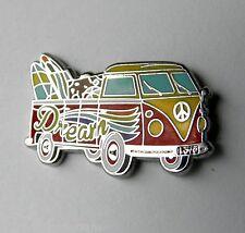 VW VOLKSWAGEN BUS CAR HIPPIE SURFER MINIBUS LAPEL PIN BADGE 1 INCH
