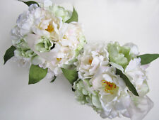 2 SILK FLOWER KISSING BALLS wedding garden party decoration  NWOT  ELEGANT!