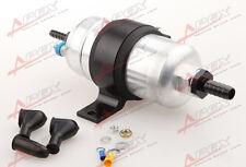 """External Fuel Pump 044 for Bosch+Billet Bracket black+3/4"""" Inlet 5/16""""Outlet"""