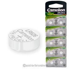 """10x Camelion Knopfzellen Alkaline AG4 LR66 LR626 377"