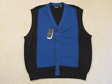 $85 GREG NORMAN PIMA COTTON/MODAL CARDIGAN SWEATER VEST- LARGE - NEWwTAGS